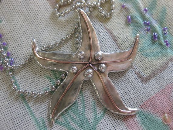 Starfish Pendant Necklace in Sterling Silver by TheSilverGardenHHI