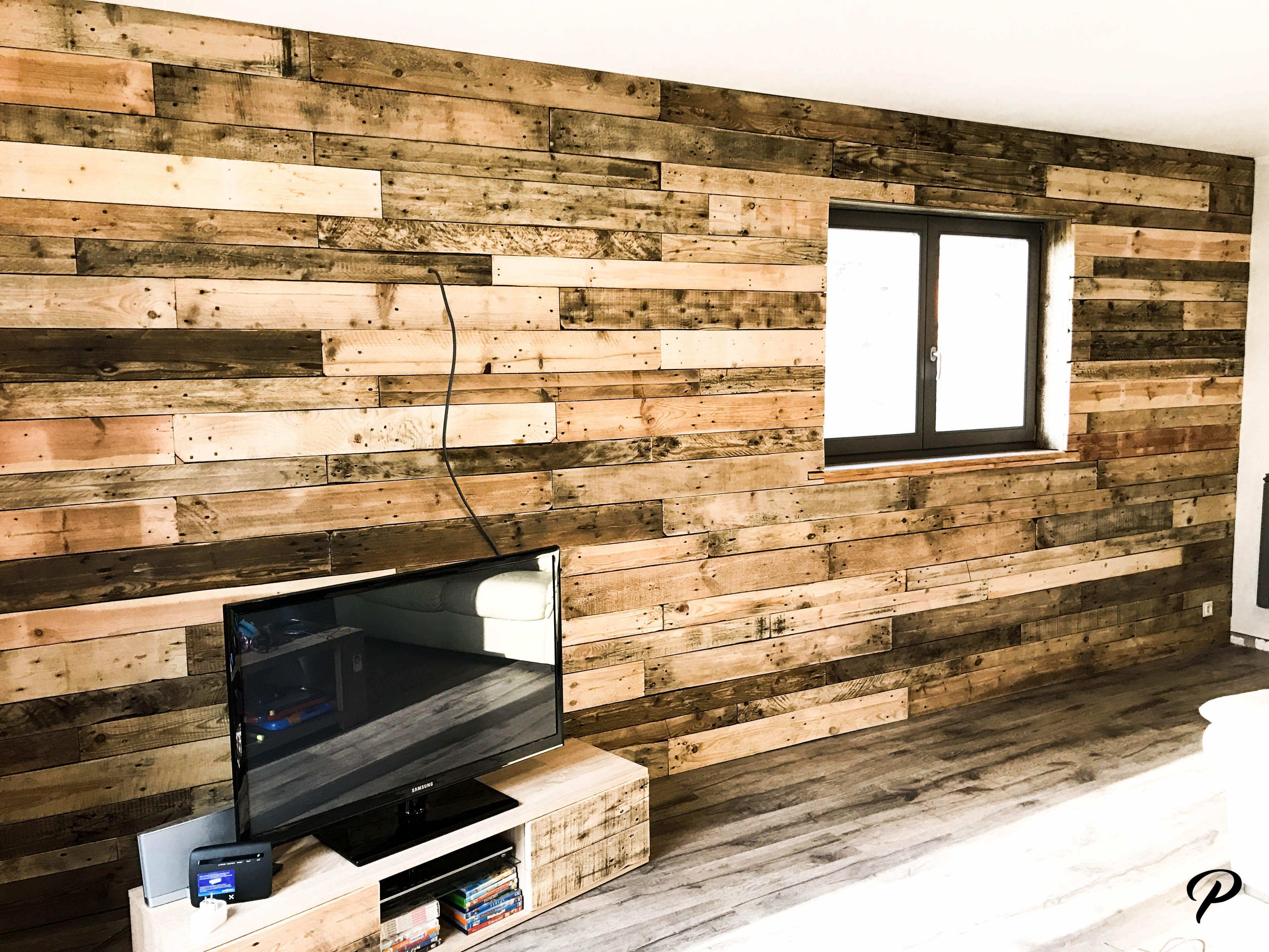 bardage en palette wood pallet wall