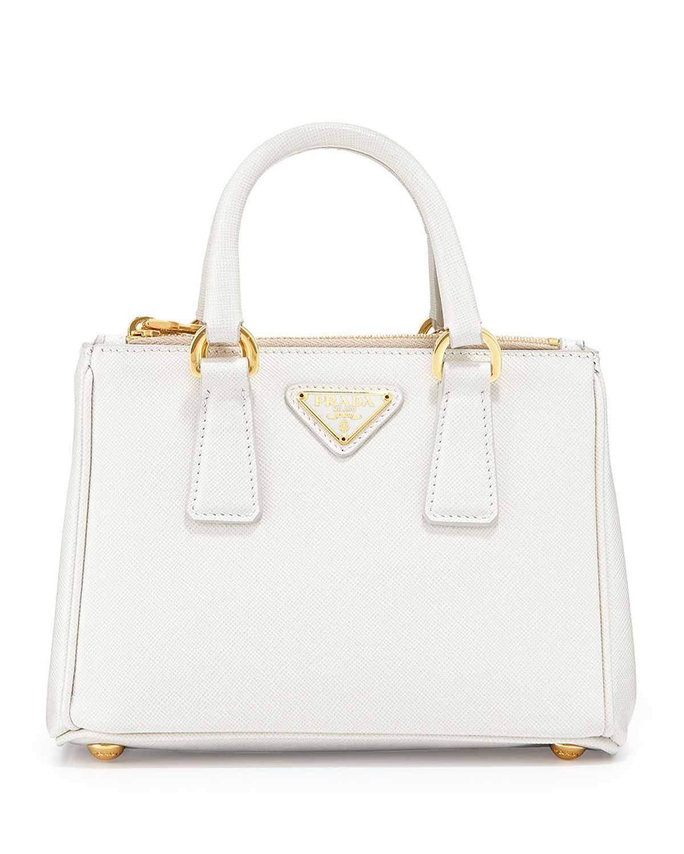 327cd7f3315c ... shopping prada saffiano mini galleria crossbody bag white bags cdcf3  b2b59