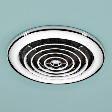 Rapide Chrome Inline Ceiling Extractor Fan Extractor Fans Bathroom Extractor Bathroom Exhaust Fan