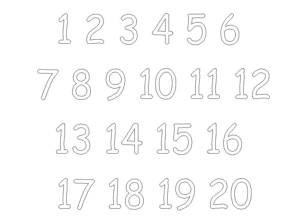 Free Number Coloring Pages For Kids