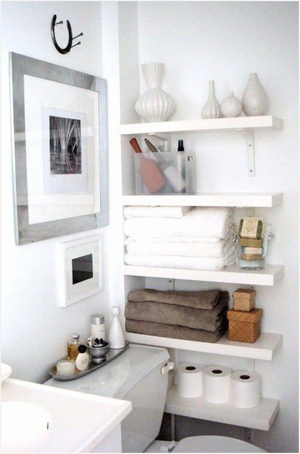 30 Stunning Bathroom Storage Shelves Organization Ideas Coodecor Bathroom Storage Solutions Diy Bathroom Storage Home Decor