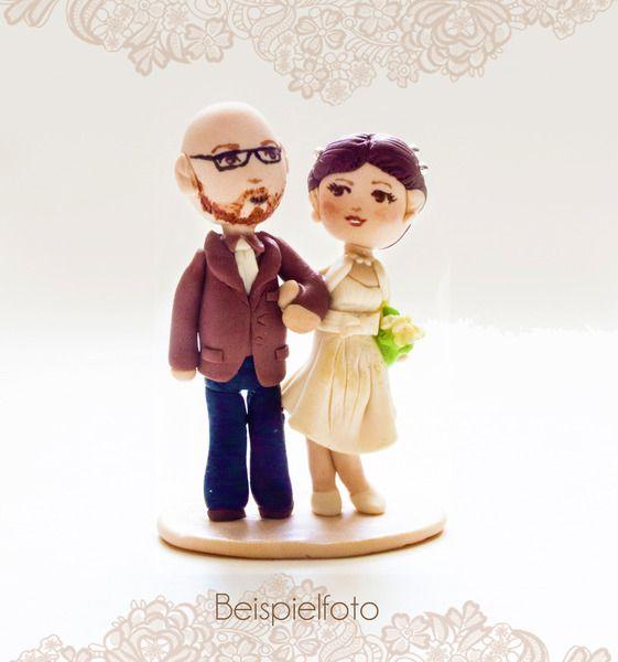Individuelle Tortenfigur , Hochzeitsfiguren von  Fabulous Funky  auf DaWanda.com