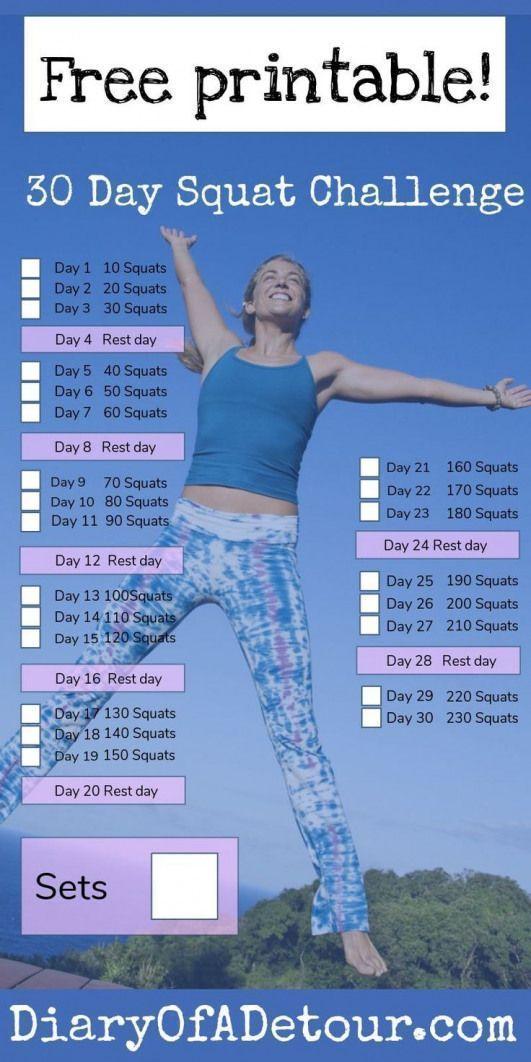#Challenge #coreworkout #Day #Free #Printable #Squat ,  - fitness -   #Challenge #coreworkout #day #...