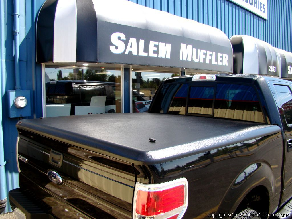 A 2012 Ford F150 with an UnderCover Tonneau Cover. http