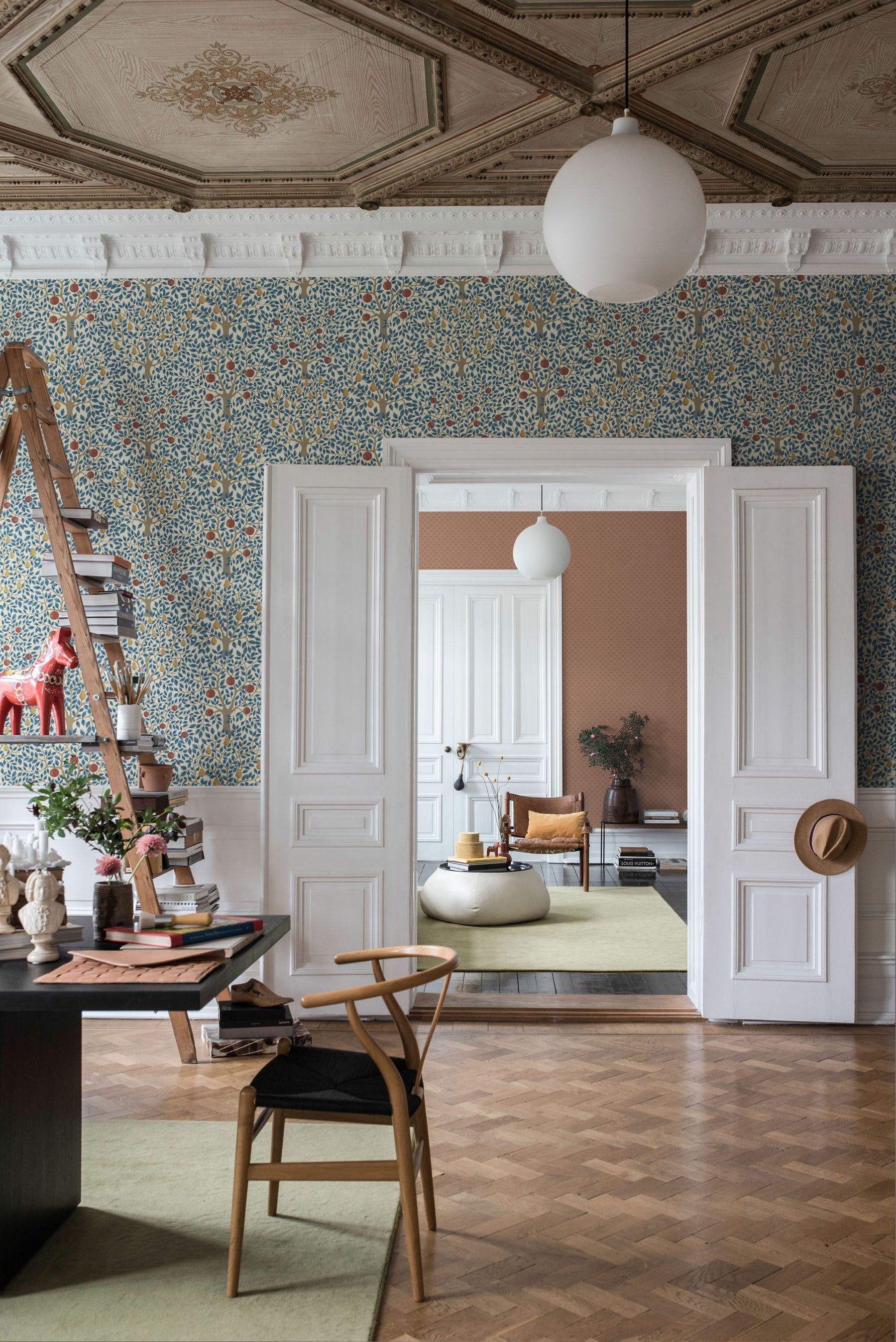 Tree Design Wallpaper Living Room: Dining Room Wallpaper, Decor, Home Decor