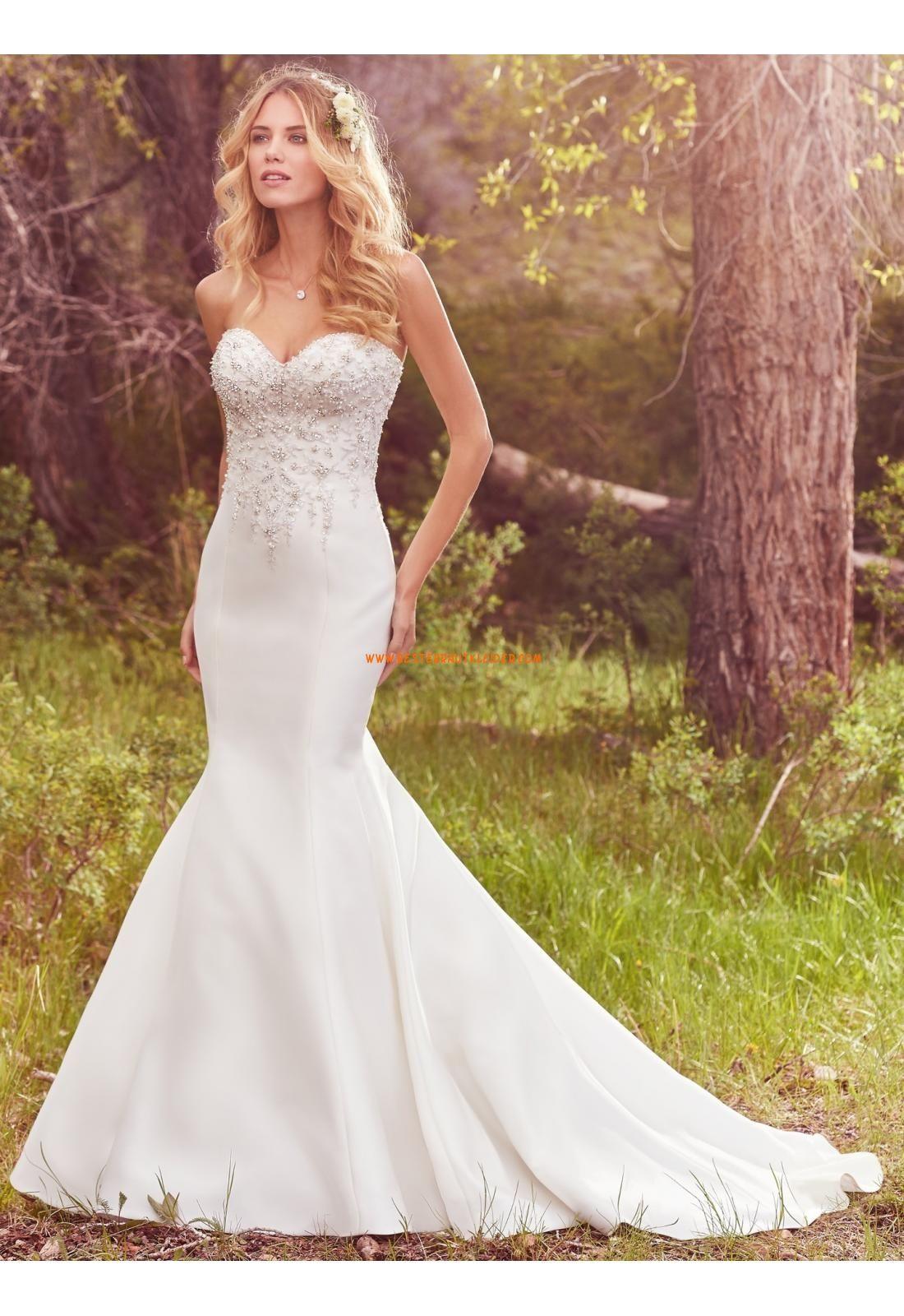 Ausgefallene Modische Schöne Brautkleider aus Satin mit ...