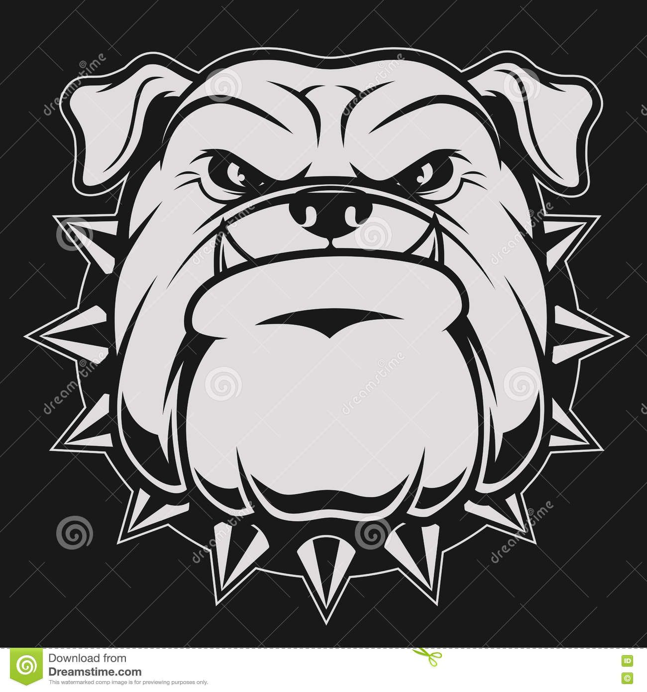 Photo About Vector Illustration Head Ferocious Bulldog Mascot On