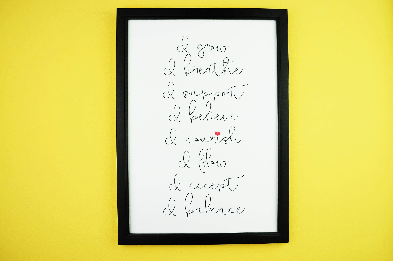 Yoga Mantras | Inspirational Positive Typography Print | A5/A4 ...