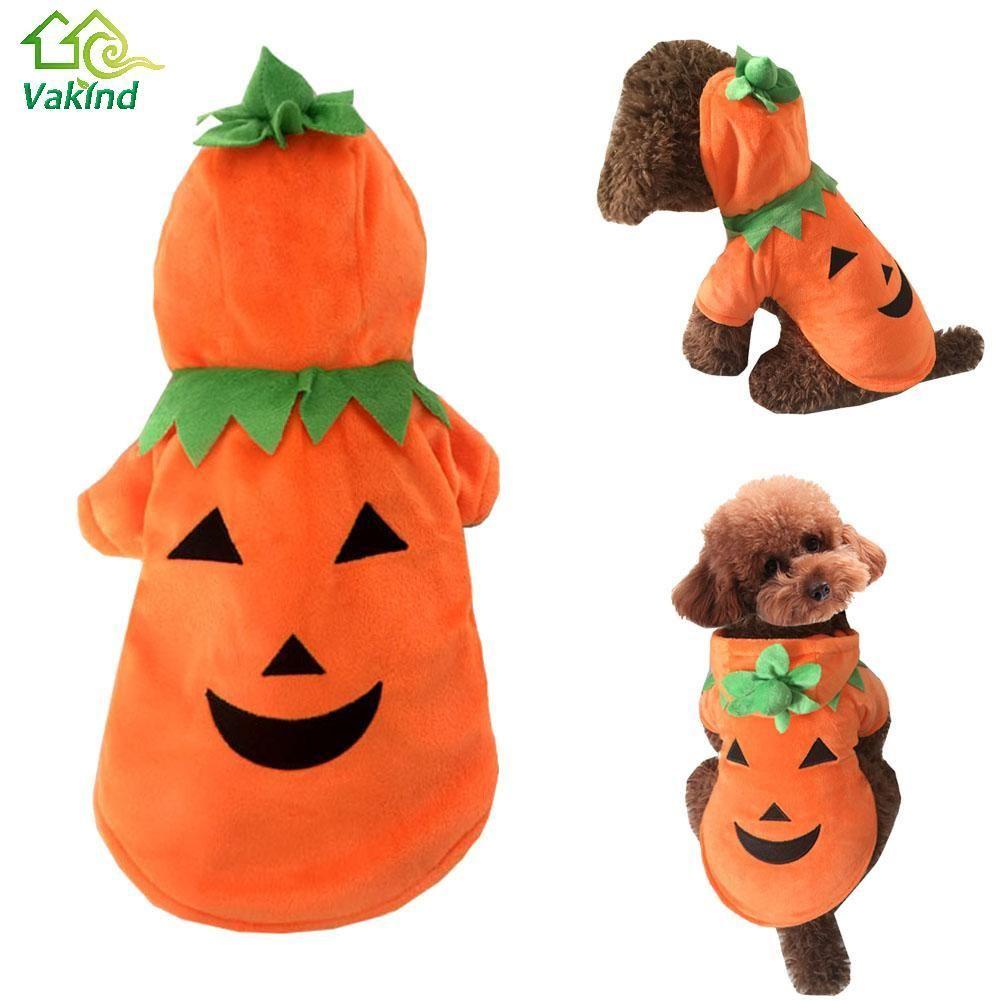Halloween Pet Costume Pumpkin Dog Coat Winter Dog Clothes For Small Dogchristmas Pet Supplies S M L Xl Hering