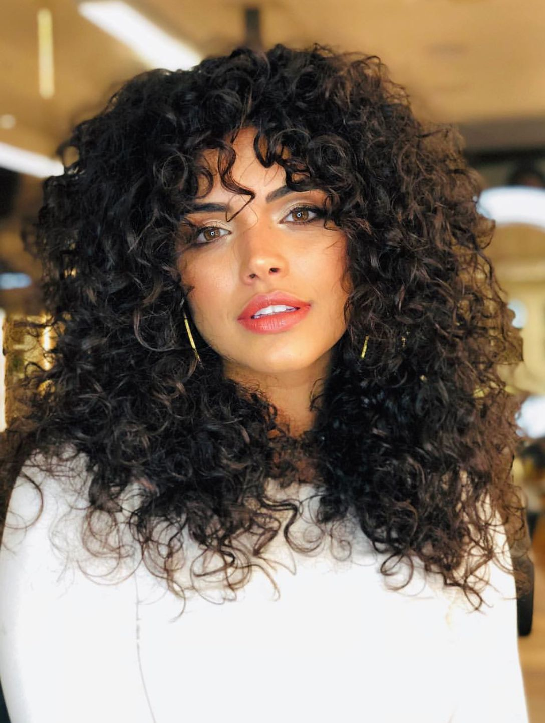 Natural Curly Hair With Layers Haircut Hair Style So Beautiful And Voluminous Curls Curly Natural Curls Hairstyles Curly Natural Curls Curly Hair Styles