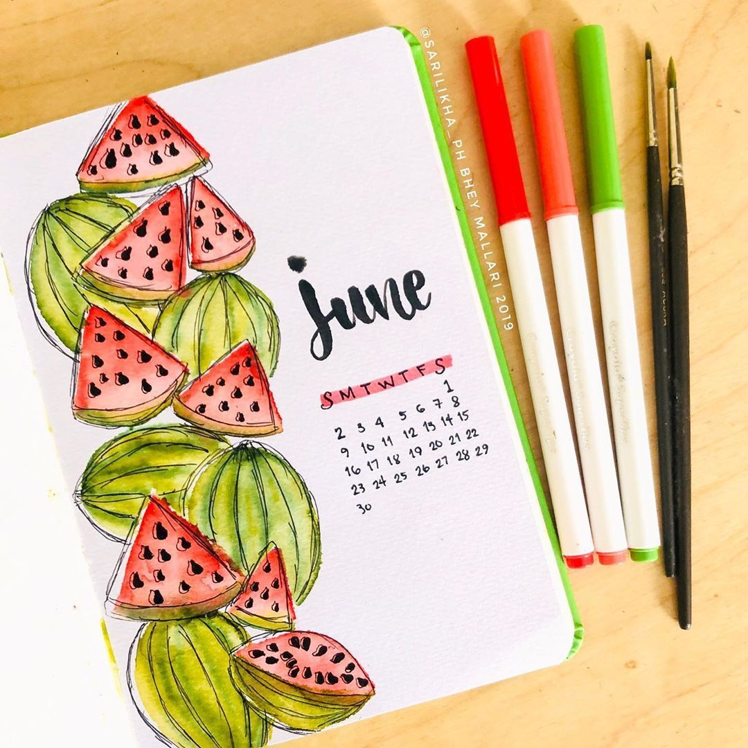 120 Amazing June Bullet Journal Monthly Cover Page Ideas - Bliss Degree