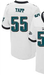 """$78.00--Darryl Tapp White Elite Jersey - Nike Stitched Philadelphia Eagles #55 Jersey,Free Shipping! Buy it now:click on the picture, than click on """"visit aliexpress.com"""" In the new page."""