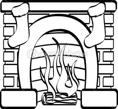 c4630c14ad7006ce93429b57c4b80ba9 » Fireplace Mantel Coloring Pagetemplate