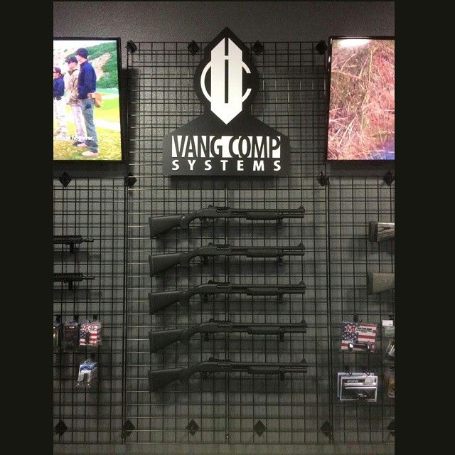 The wall of Vang. @freedomfirearms is our exclusive dealer in Las Vegas. He's stocked now with a full compliment of modded @vangcomp Remington 870 Police Magnums. If you're in the area you've got to stop in and say hi to the guys there. You won't believe the amount and selection of #tacticalshit Mike has in stock.