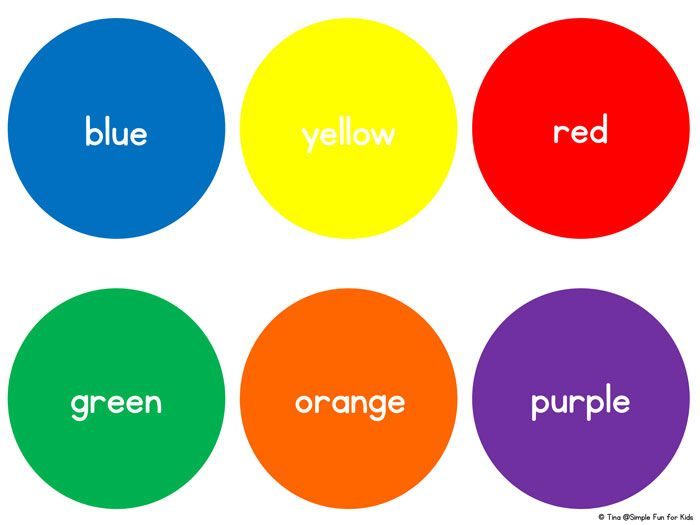 Basic Color Circles