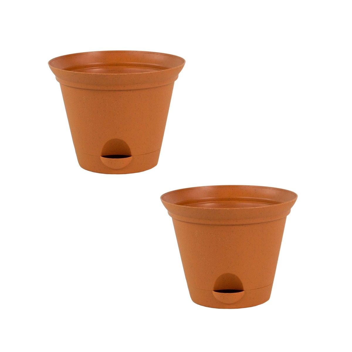 Misco 2 Pack Of 7 Inch Clay Quartz Plastic Self Watering Flare Flower Pot Or Garden Planter Discontinued No Longer Available Self Watering Planter Garden Planters Planters