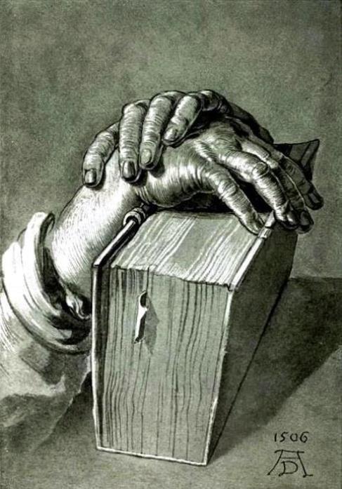 Durer, Albrecht (b,1471)- Hands w Book