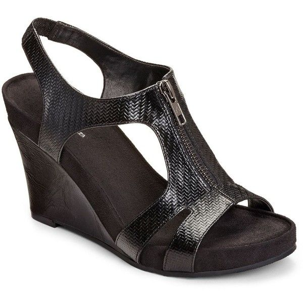 A2 by Aerosoles Dream Plush Women's Core Comfort Wedge Sandals ($80) ❤  liked on
