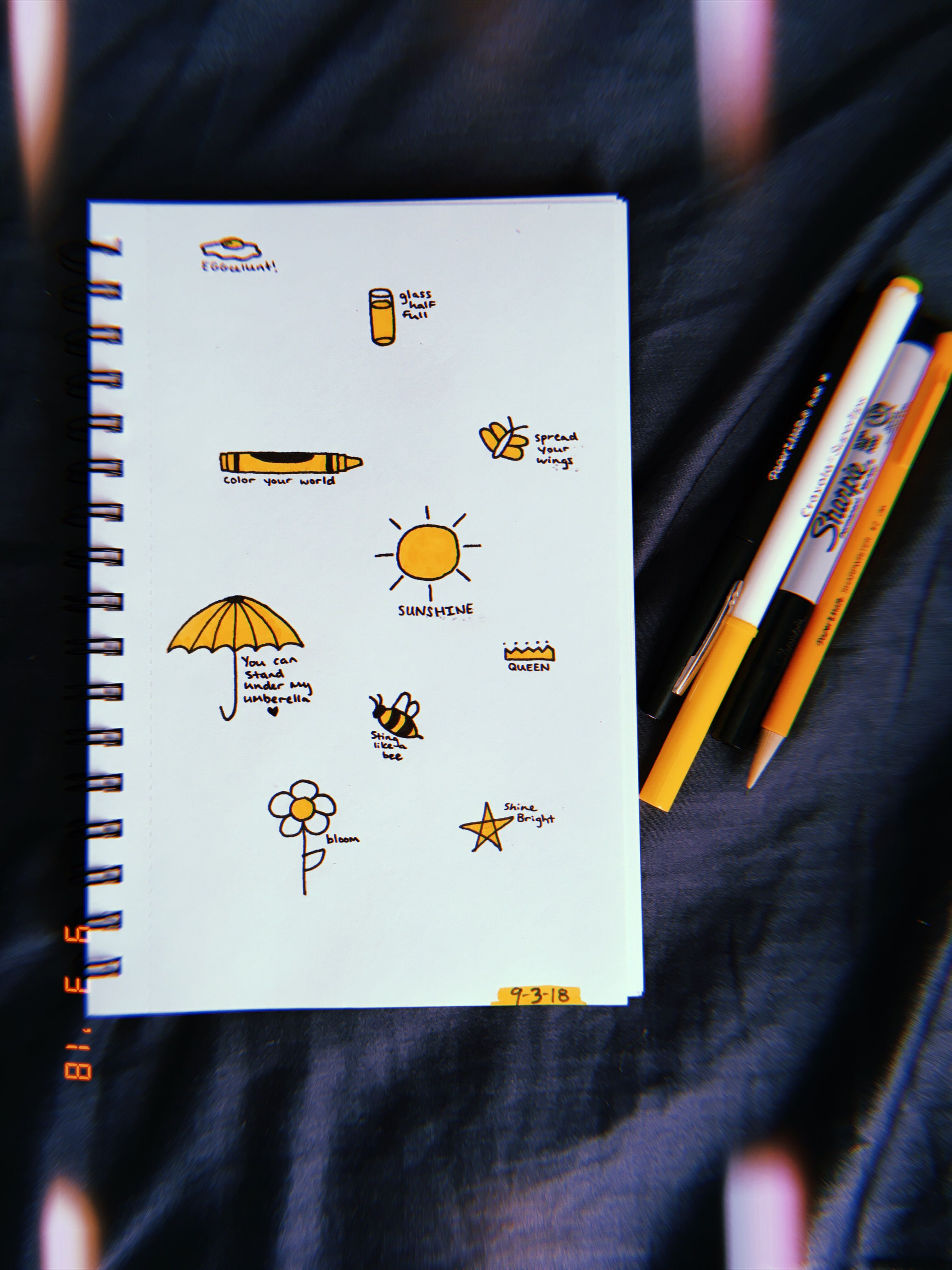 Yellow Aesthetic Doodles Quick And Easy Drawings Beginners