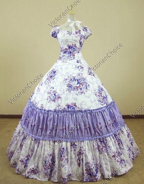Civil War Southern Belle Lolita Ball Gown Dress Reenactment ...