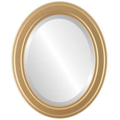 Gold Frame Mirror Oval Mirror Gold Mirror Contemporary Style - Contemporary oval mirrors