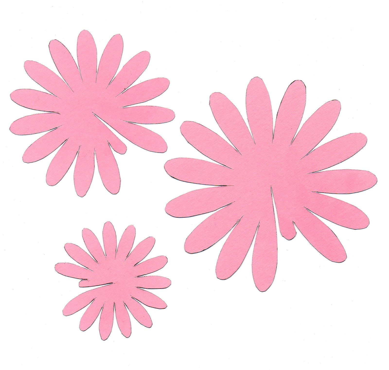 My Favorite Flower Is Probably A Gerbera Daisy I Love The Bright Colors They Come In They Seem To Last Quit Flower Template Flower Petal Template Paper Daisy