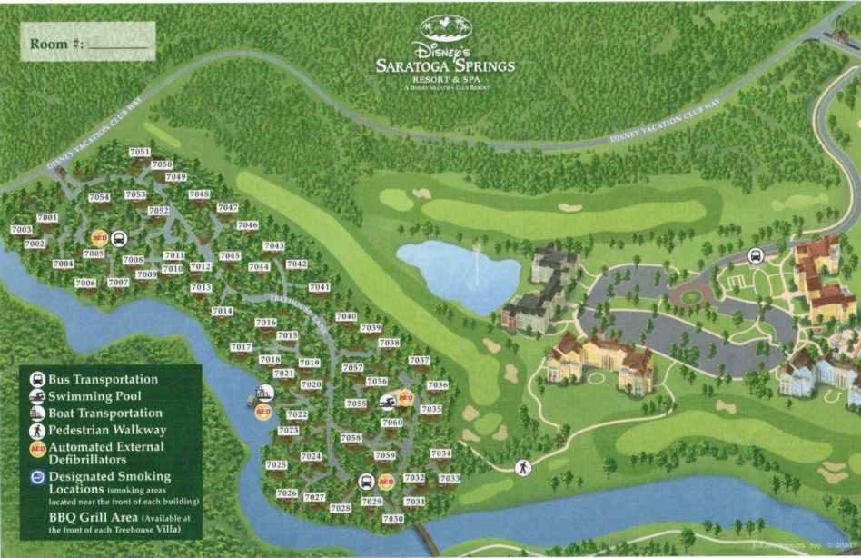 Saratoga Springs Resort Map | Disney land and sea | Pinterest ...