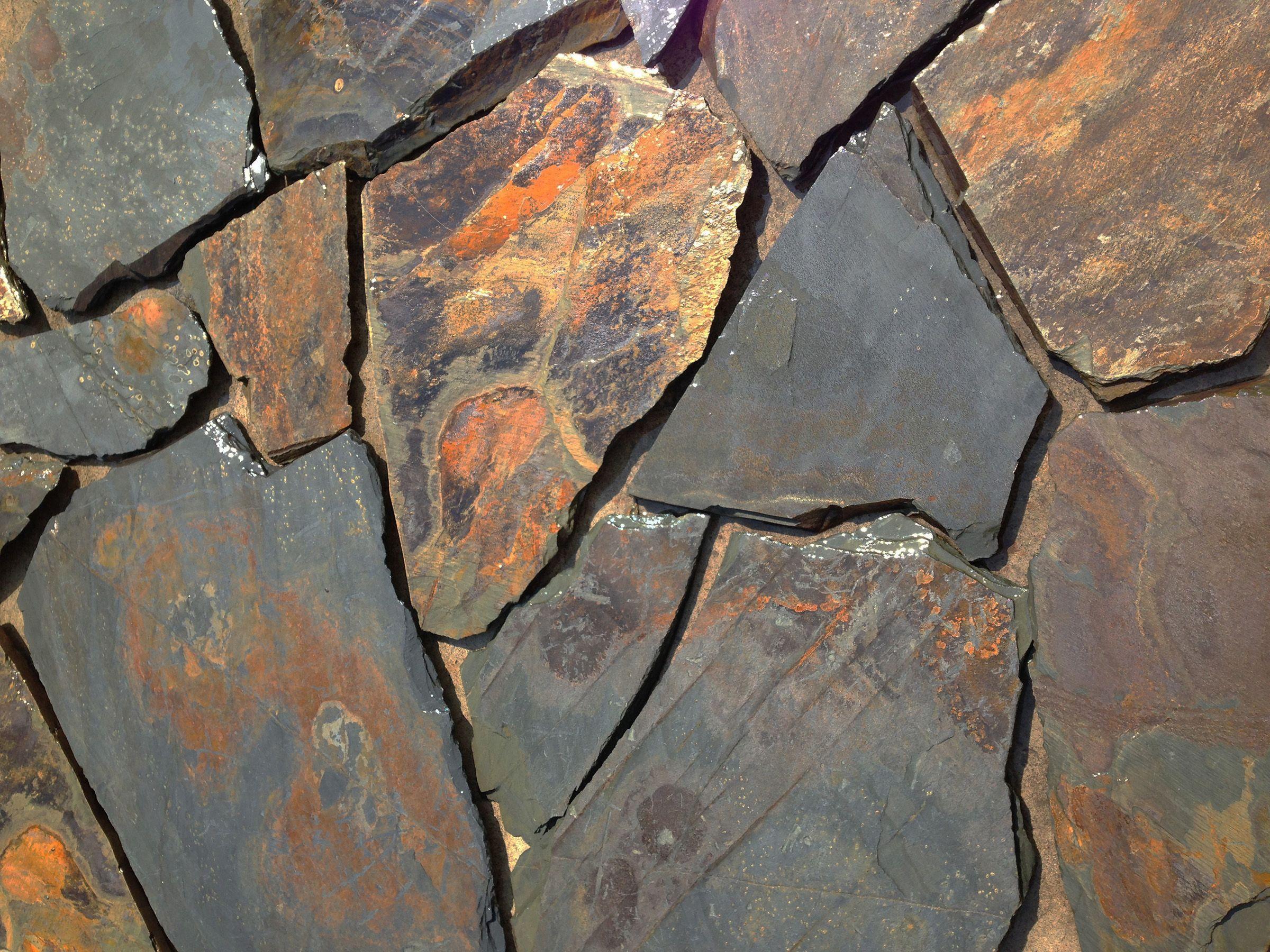 south australian, barossa gold crazy paving dark this crazy paving