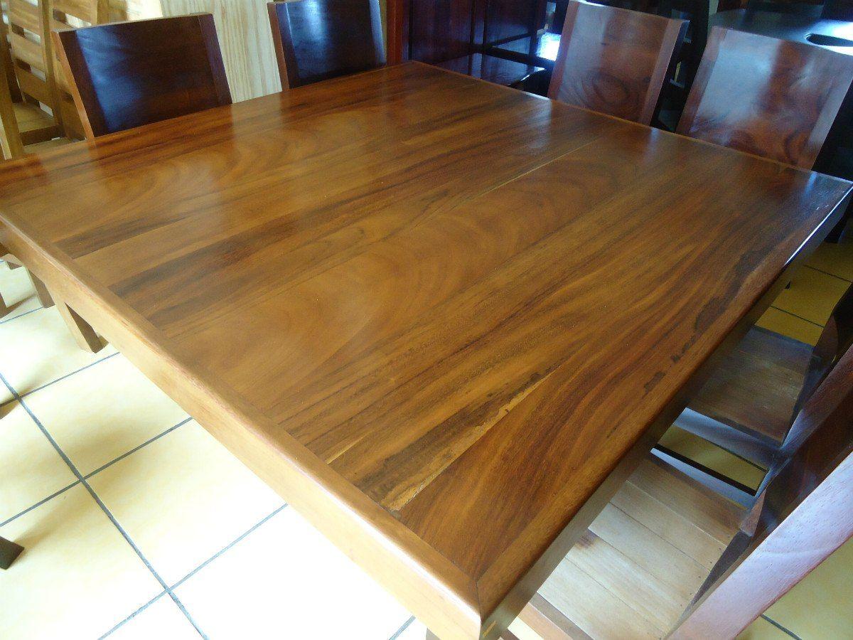 mesa comedor cuadrada con 8 sillas madera parota solida | Comedor ...
