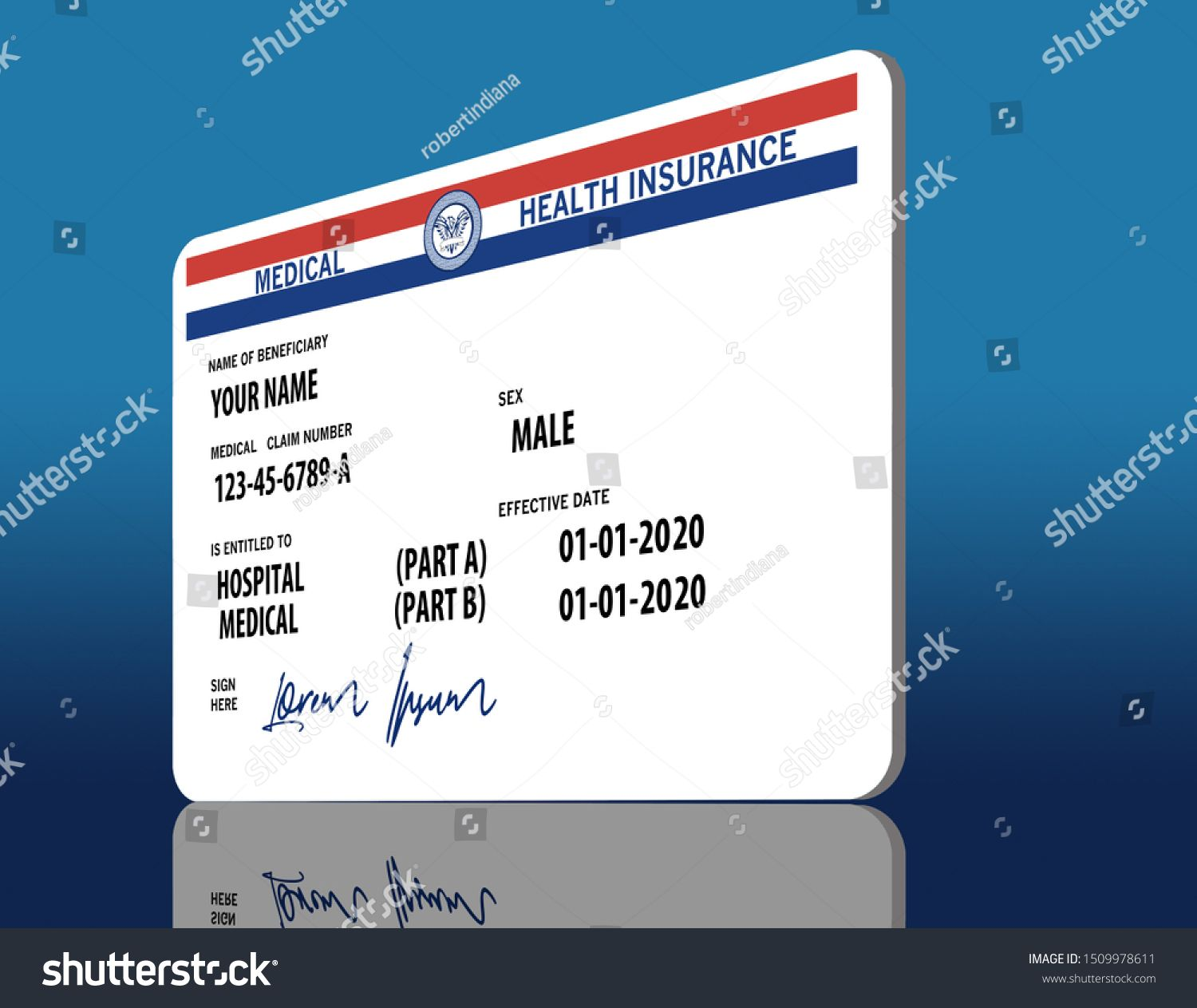 Here Is A Mock Generic 2020 Medicare Health Insurance Card It