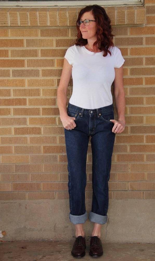 9a729034cd9 Vintage Levi's~505 Straight Leg Jeans~Dark Denim~Rigid~29x34 *Fits a 26/27  women #Levis #StraightLeg
