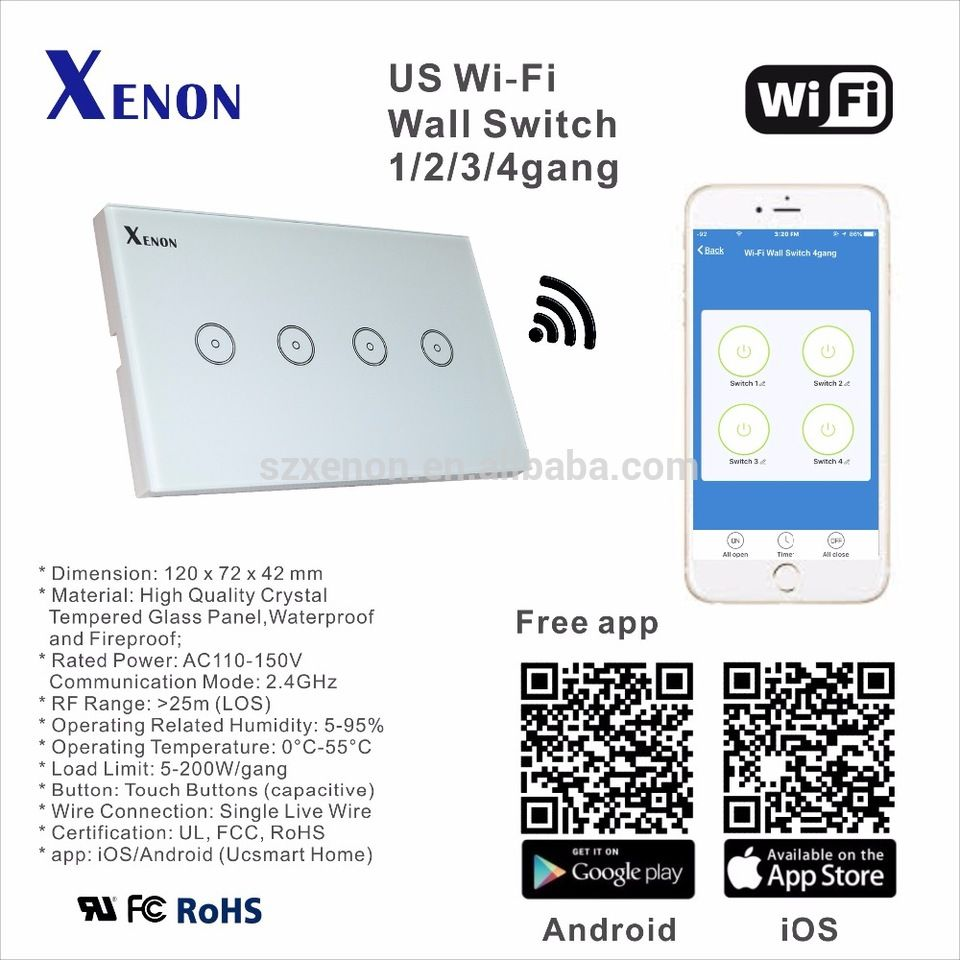 Xenon WiFi Remote control switch home touch switch WIFI smart home ...