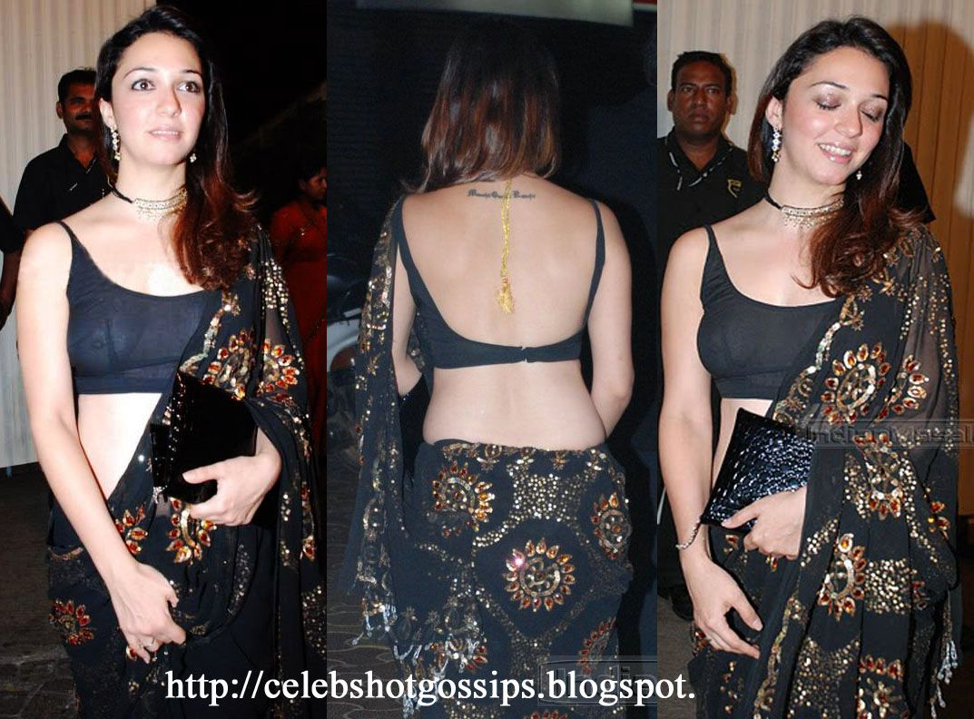 nauheed cyrusi hot black saree | back 2 front sultry | pinterest