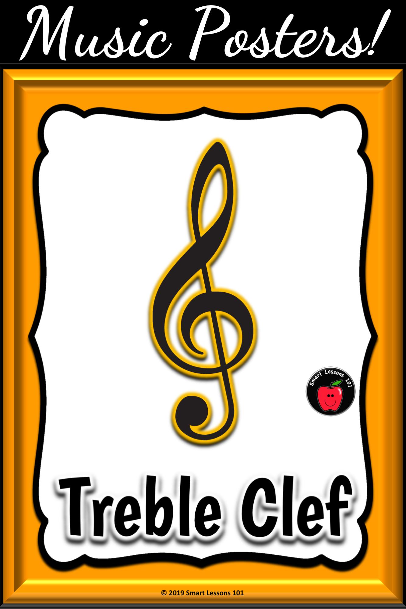 Music Symbol Posters Classroom Decor Music Bulletin