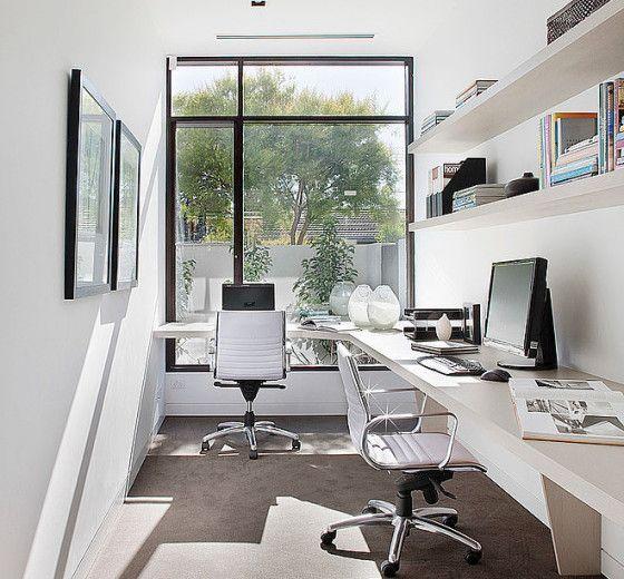 Dise o de casa moderna en esquina fachada e interiores escritorio pinterest dise o de - Estudio de interiores ...