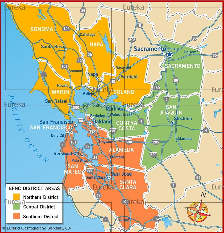 District Map Sf Bay Area Region C Eureka Cartography Berkeley Ca Daly City Cartography Folsom Select your bay area, ca wall maps today! district map sf bay area region