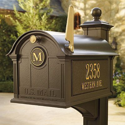 Mailboxes Traditional Mailboxes Door Initial Mailbox