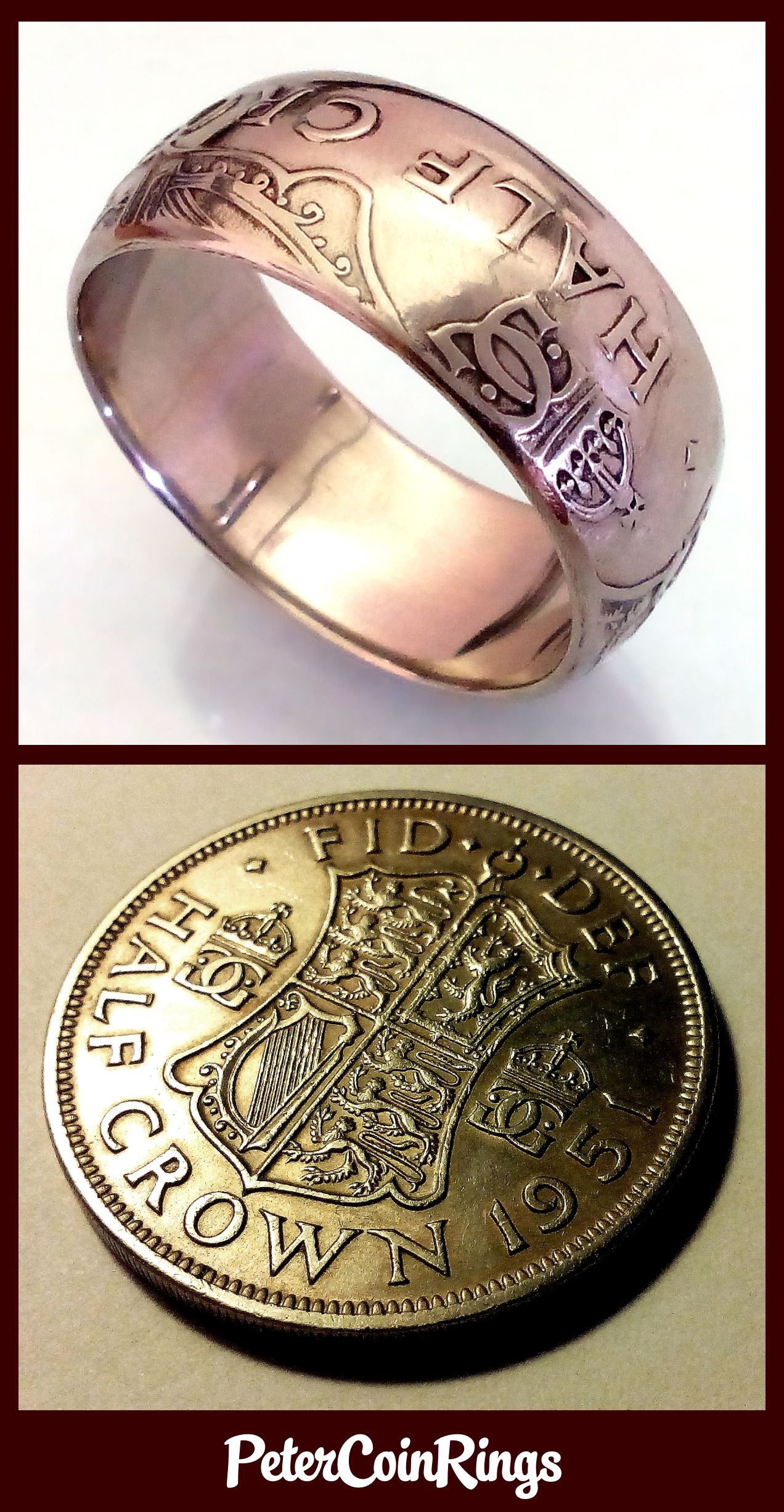 british half crown coin ring How to make rings