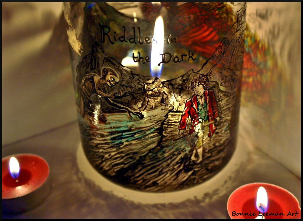 Riddles In The Dark Candle Jar by Bonniemarie on
