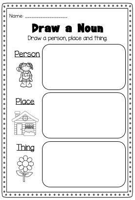 Noun Activities Worksheets And Printables Nouns Worksheet Nouns Worksheet Kindergarten Nouns Activities