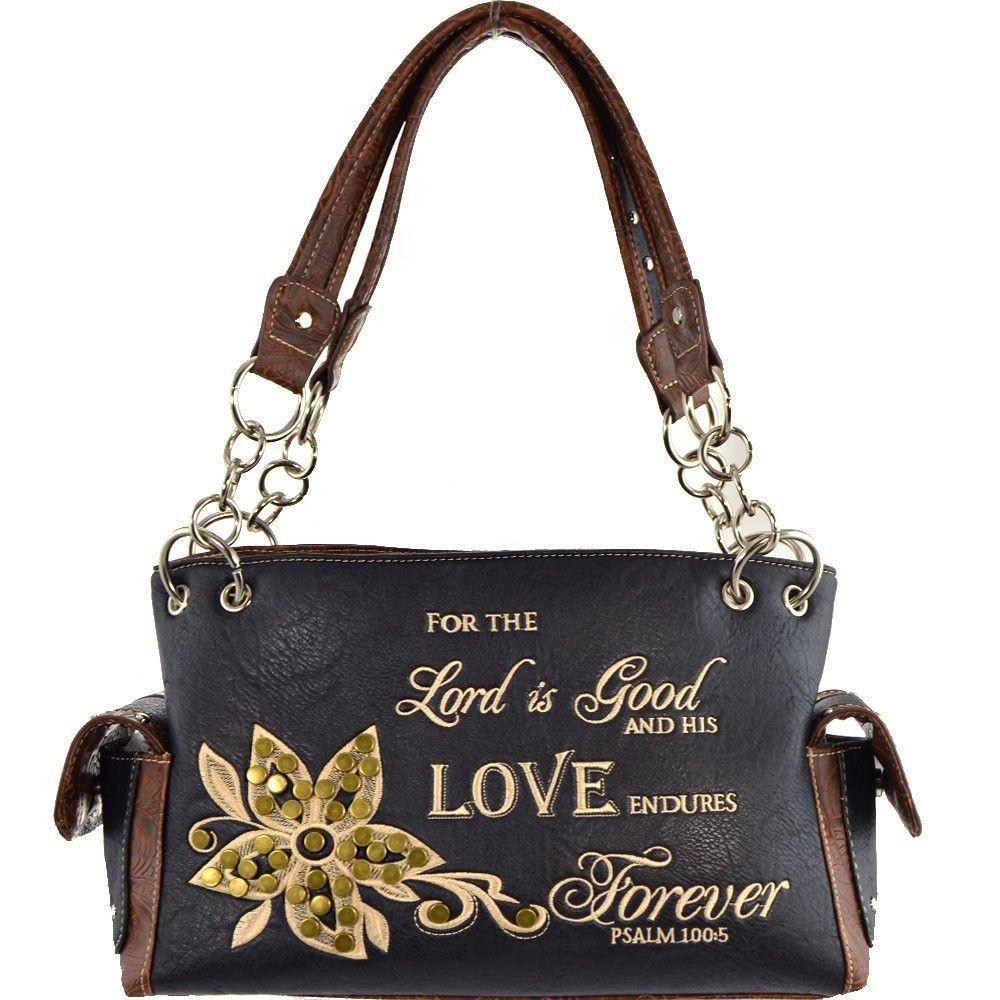"""LOVE"" Bible Verse Western Handbag"