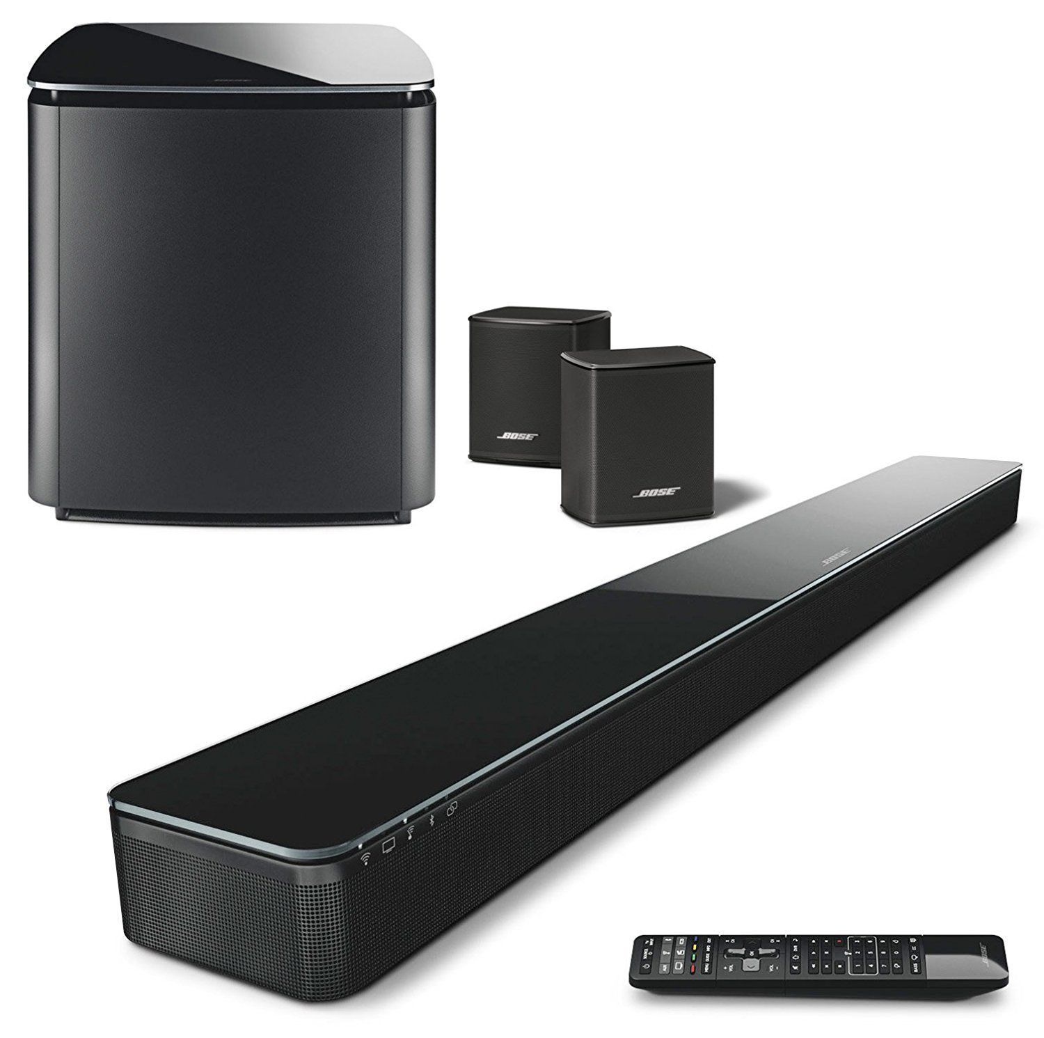 Check Out The Bose 5 1 Home Theater Soundtouch 300 Acoustimass 300 Virtually Invisible 300 Reviewed On Sound Bar Wireless Surround Sound Bose Home Theater