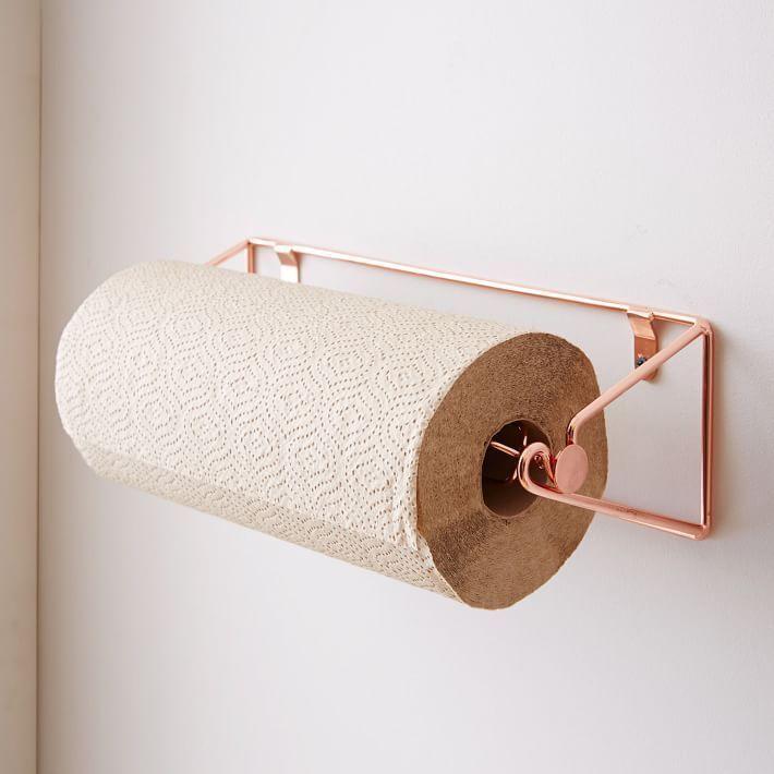 Kupferdraht-Küchenpapier-Handtuchhalter - #cool #KupferdrahtKüchenpapierHandtuchhalter #copperkitchenaccessories