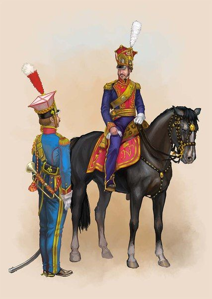 Tromba e ufficiale dei Lanciere polacco della guardia imperiale francese