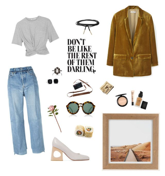 """""""20 dolla in my pocket"""" by notsobasique on Polyvore featuring MANGO, Karen Walker, Urban Outfitters, e.l.f., Guerlain, MAC Cosmetics, CB2, Humble Chic, Marni and T By Alexander Wang"""