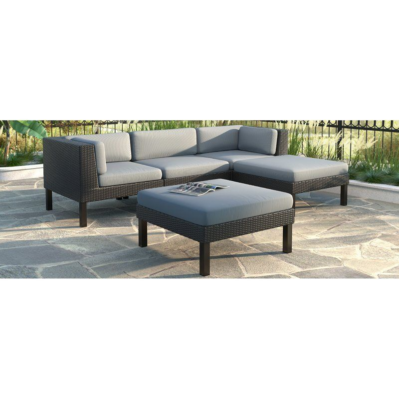Best Wrought Studio Woodbluff 5 Piece Sectional Set With 400 x 300