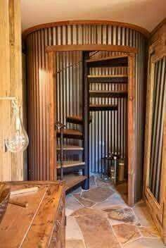 My DREAM staircase but how do you find a silo that tiny? Or make it look like one?