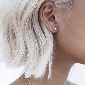 Silver Jewellery Bar Earrings Silver Bar Studs Silver Studs Silver Bar Simple Studs Modern Studs Line Earrings Line Studs Bar Studs