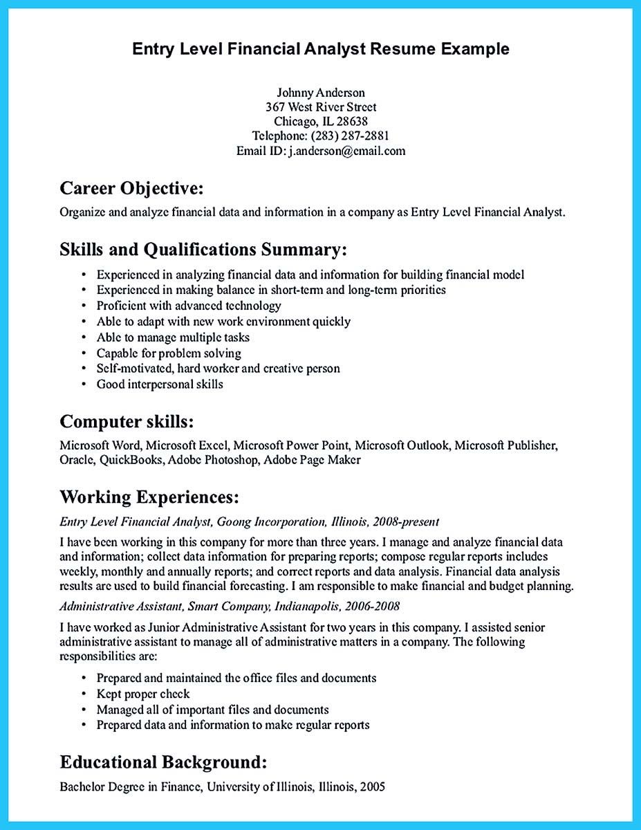 If You Are A Business Analyst And You Just Seeking For A Job In A Big Company You Should Resume Objective Statement Resume Examples Resume Objective Examples